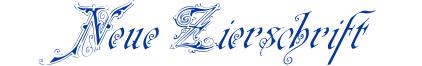NeueZierschrift
